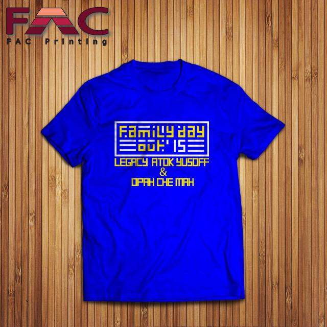 T Shirt Printing Cetak Baju Berkualiti Printing Baju Murah